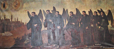 The first Augustinians en Mexico. Church of Saint Augustine, Guadalajara, Mexico.