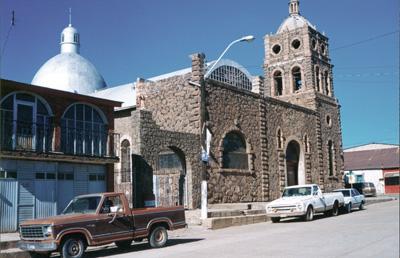 Catedral de Ciudad Madera, Chihuahua, México.