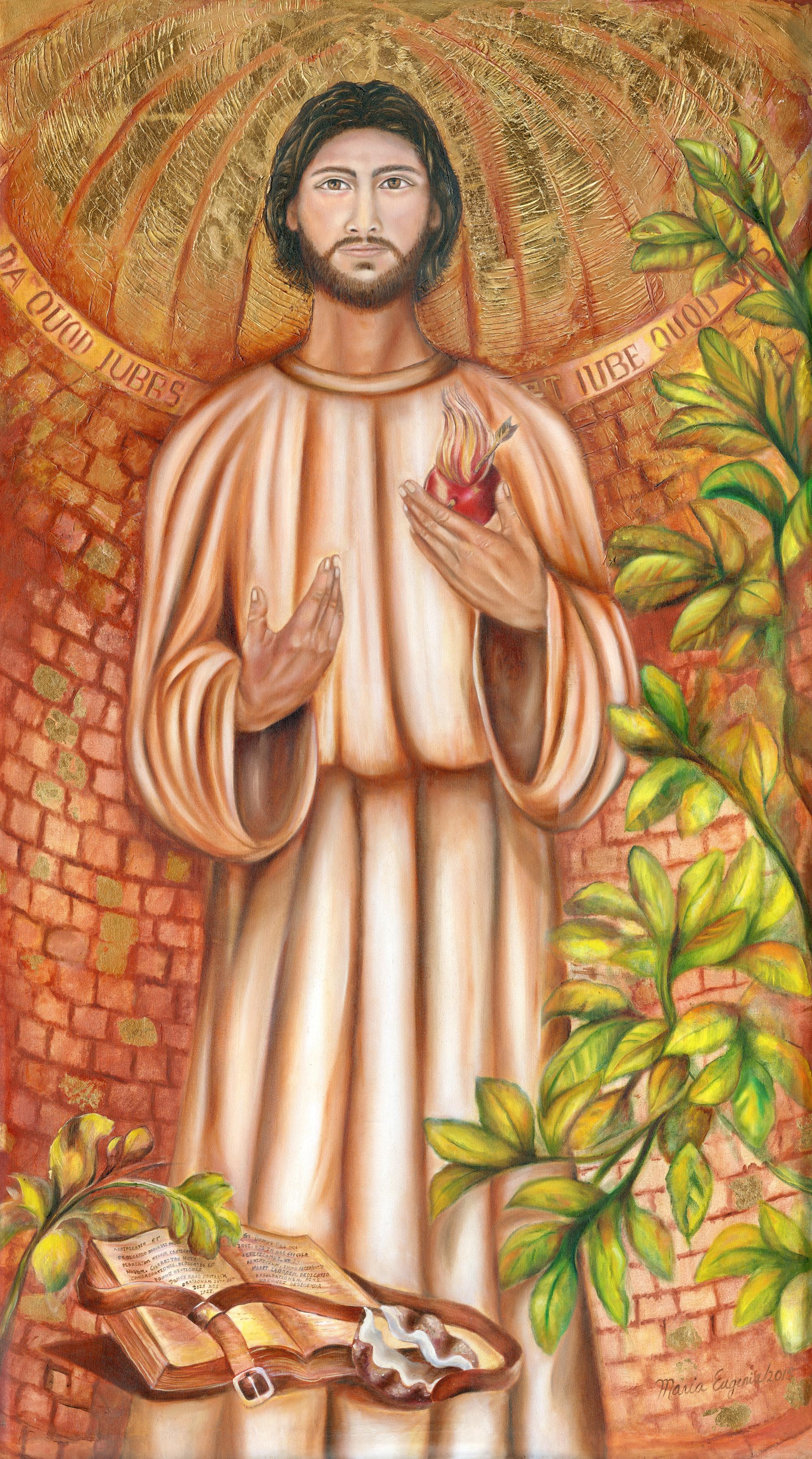 Saint Augustine, by Maria Eugenia Gutiérrez. Pozos de Santa Ana, San José, Costa Rica.