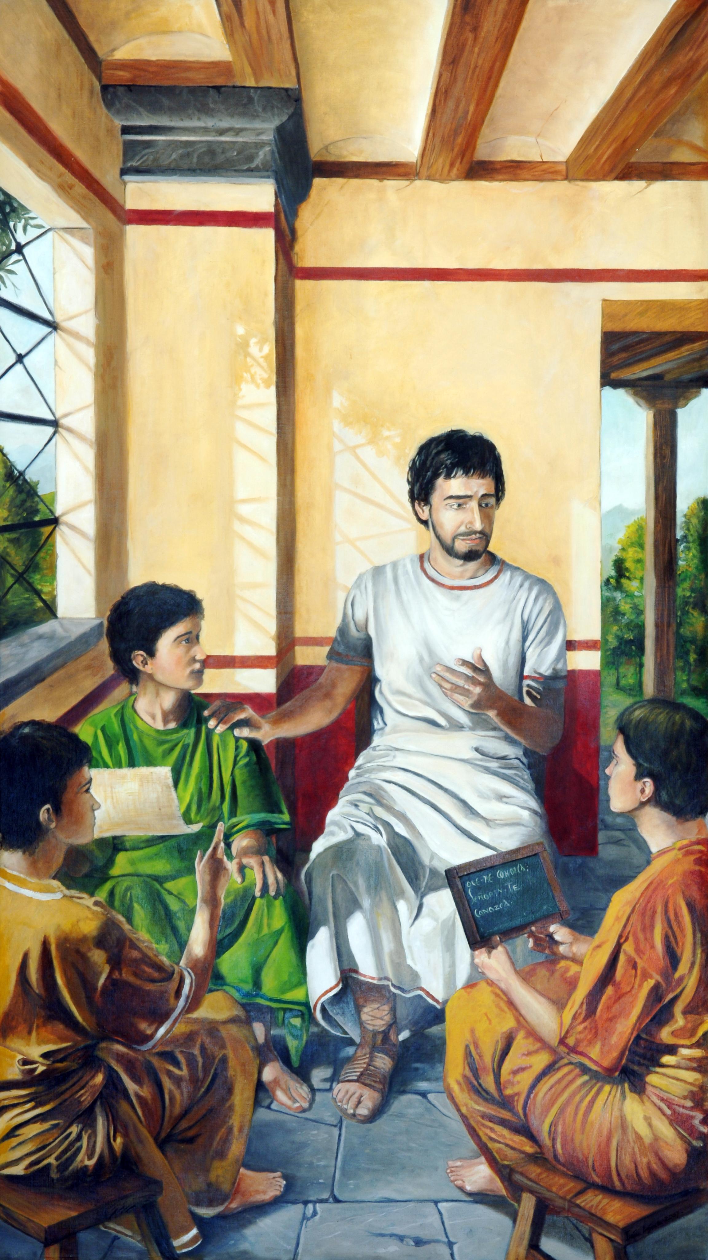 Augustine teacher, by Ivan Lopez. Las Rozas, Madrid, Spain.