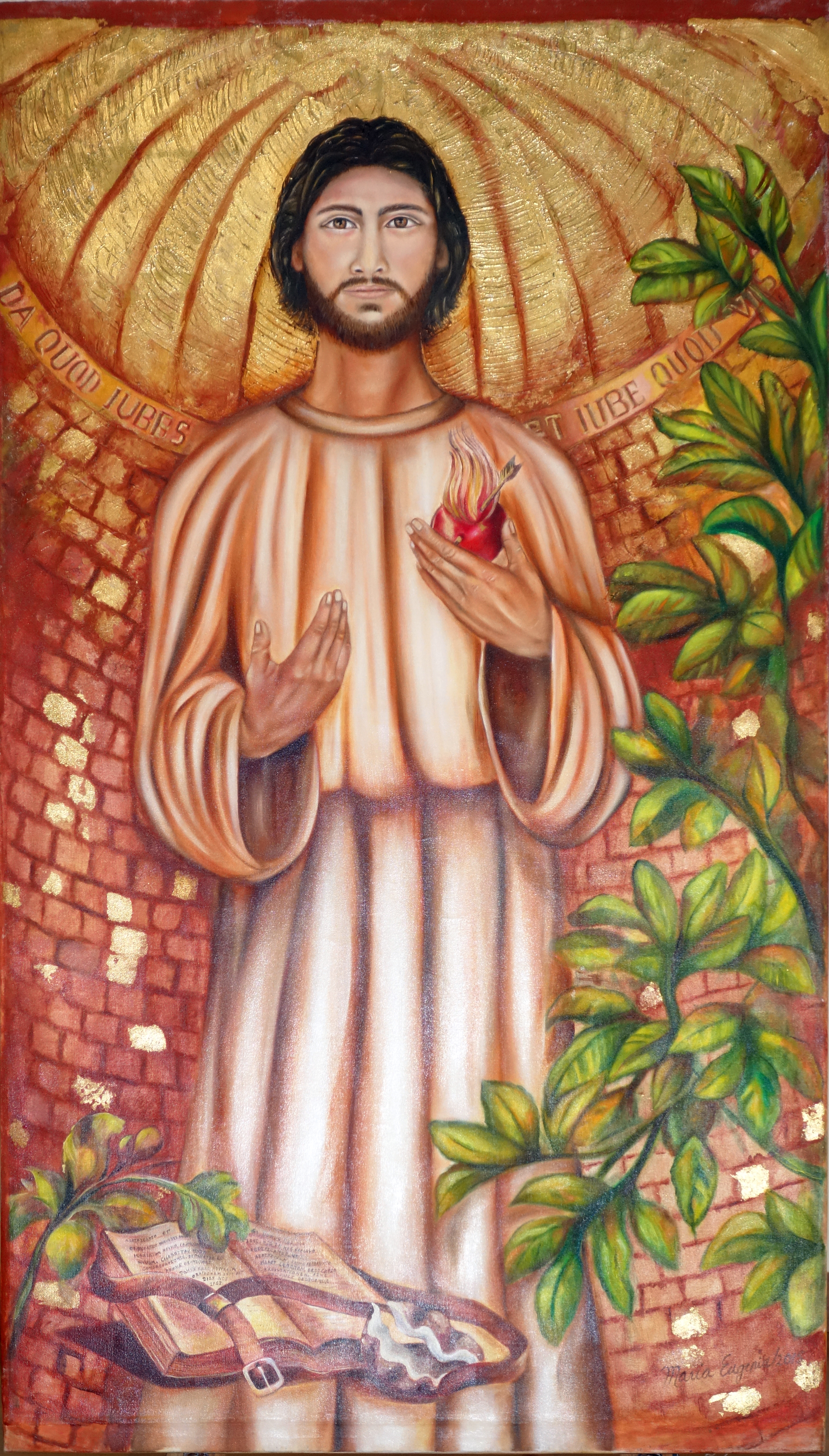 St Augustine, by María Eugenia Trujillo, in the office of the Augustinian Recollect Spirituality Centre         in Pozos de Santa Ana, San Jose, Costa Rica. 2015.